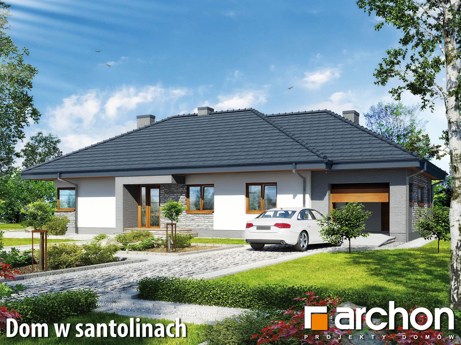 Inwestycja na Rudzie Bugaj - wizualizacja pod projekt Domu w santolinach firmy Archon