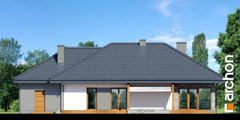 """Szkic projektu domu on nazwie """"Dom w santolinach"""" - tył domu"""